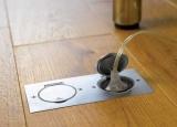 Как сделать розетку в полу